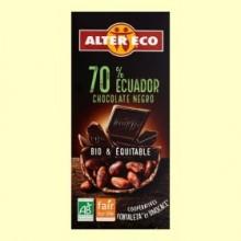 Chocolate Negro 70% Ecuador Bio - 100 gramos - Alter Eco