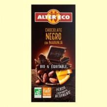 Chocolate Negro con Naranja Bio - 100 gramos - Alter Eco