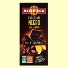 Chocolate Negro con Limón Bio - 100 gramos - Alter Eco