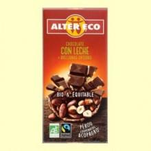 Chocolate con Leche y Avellanas Enteras Bio - 100 gramos - Alter Eco
