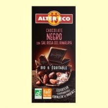 Chocolate Negro con Sal Rosa del Himalaya Bio - 100 gramos - Alter Eco