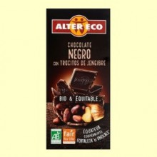 Chocolate Negro con Trocitos de Jengibre Bio - 100 gramos - Alter Eco
