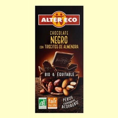 Chocolate Negro con Trocitos de Almendra Bio - 100 gramos - Alter Eco