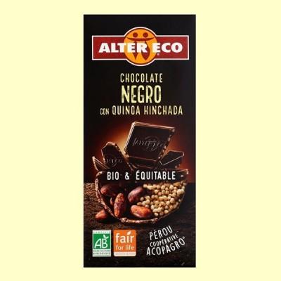 Chocolate Negro con Quinoa Hinchada Bio - 100 gramos - Alter Eco