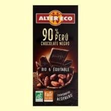 Chocolate Negro 90% Perú Bio - 100 gramos - Alter Eco