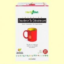 Infusión Herbodiet Favorece tu Circulación - 20 bolsitas filtro - Novadiet