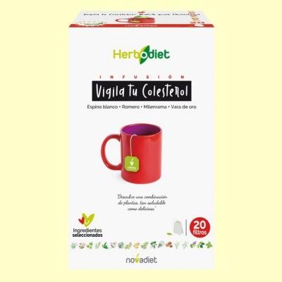 Infusión Herbodiet Vigila tu Colesterol - 20 bolsitas filtro - Novadiet