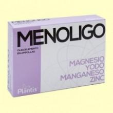 Menoligo - Magnesio Yodo Manganeso y Zinc - 20 ampollas - Plantis