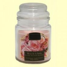 Vela Aromática Rosa de la India en Jarrita de Cristal - 1 unidad - Aromalia