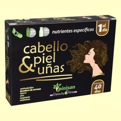 Cabello Piel y Uñas - 40 cápsulas - Pinisan