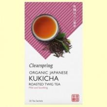 Té Kukicha - 20 filtros - Clearspring