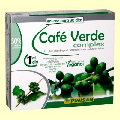 Café Verde Complex - 30 cápsulas - Pinisan
