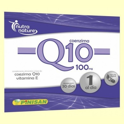 Coenzima Q10 100 mg - 30 cápsulas - Pinisan