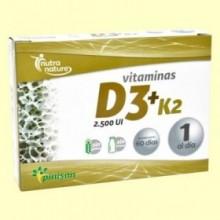 Vitaminas D3 K2 - 60 cápsulas - Pinisan