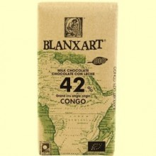 Chocolate con Leche 42% Cacao Congo Bio - 125 gramos - Blanxart