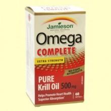 Omega Complete Super Krill 500 mg - 60 cápsulas - Jamieson