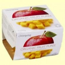 Puré de Frutas Orgánicas - Manzana y Mango - 2 x 100 gramos - Clearspring