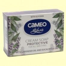 Jabón en Pastilla Protector con Aceite de Lavanda y Eucalipto - 100 gramos - Biofresh Cameo