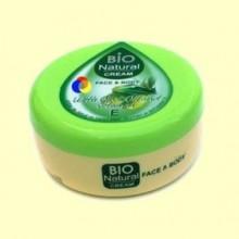 Crema Hidratante Cara y Cuerpo con Aceite de Oliva y Vitamina E - 250 ml - Biofresh