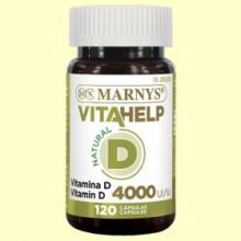 Vitahelp Vitamina D 4000 - 120 cápsulas - Marnys