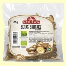 Setas Shiitake Deshidratadas - 25 gramos - Natursoy