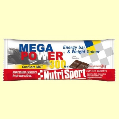 Barrita Mega Power 300 Sabor Chocolate - 12 unidades - Nutrisport