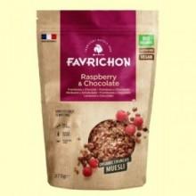 Muesli Crunchy Frambuesa y Chocolate Bio - 375 gramos - Favrichon