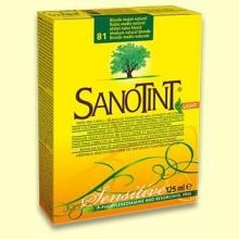 Tinte Sensitive Rubio Medio Natural 81 - 125 ml - Sanotint