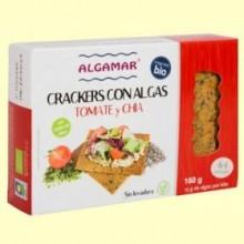 Crackers con Algas Tomate y Chía - 160 gramos - Algamar