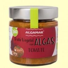 Paté vegetal con Algas - Tomate - 180 gramos - Algamar