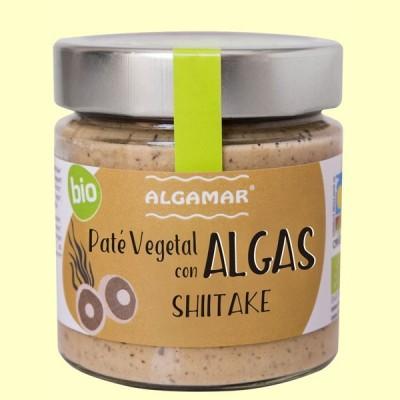 Paté vegetal con Algas - Shiitake - 180 gramos - Algamar