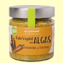 Paté vegetal con Algas - Zanahoria y cúrcuma - 180 gramos - Algamar
