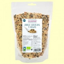 Arroz Lentejas y Algas Eco - 500 gramos - Algamar