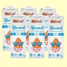 Bebida de Almendra Sin Azúcar Natural Calcium Bio - Pack 6 x 1 litro - EcoMil