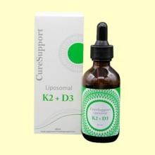 Liposomal K2 +D3 - 60 ml - Curesupport