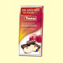 Chocolate Negro con Manzana y Edulcorante - 75 gramos - Torras