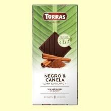 Chocolate Stevia Negro con Canela - 125 gramos - Torras