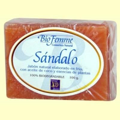 Jabón de sándalo - Bio Femme - 100 gramos - Ynsadiet