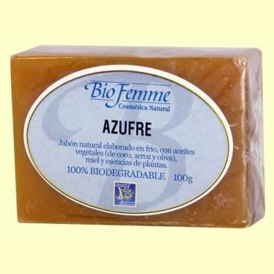 Jabón de azufre - Bio Femme - 100 gramos - Ynsadiet