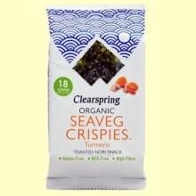 Alga Snack Nori Cúrcuma - 4 gramos - Clearspring