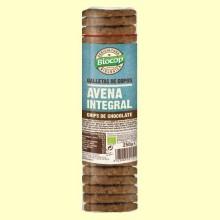 Galletas de copos de Avena Integral Chips Chocolate Bio - 250 gramos - Biocop