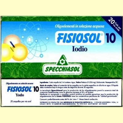 Fisiosol 10 Yodo - Iodo - 20 ampollas - Specchiasol