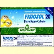 Fisiosol 20 Hierro Cobre Cobalto - 20 ampollas - Specchiasol
