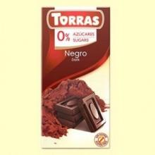 Chocolate Negro 0% Azúcares - 75 gramos - Torras
