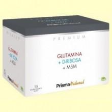 Glutamina, D-Ribosa y MSM - 15 sobres - Prisma Natural