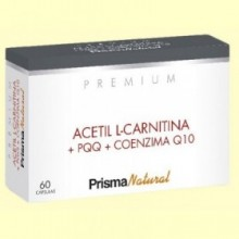 Acetil L-carnitina y PQQ Premium - 60 cápsulas - Prisma Natural
