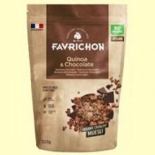 Muesli Crunchy Quinoa y Chocolate Bio - 325 gramos - Favrichon