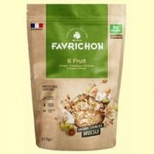 Muesli Crunchy Bio 6 Frutas - 375 gramos - Favrichon