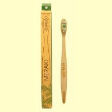 Cepillo de Dientes de Bambú Medio - 1 unidad - Meraki