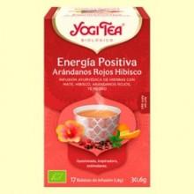 Energía Positiva Arándanos Rojos e Hibisco Bio - 17 infusiones - Yogi Tea